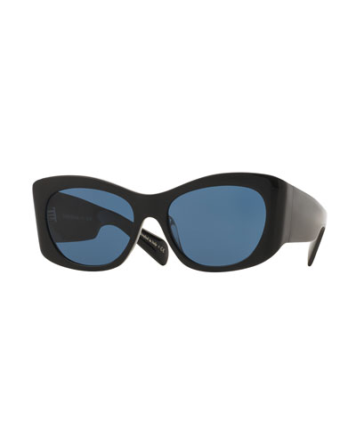 Bother Me Cat-Eye Sunglasses, Black