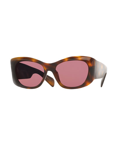 Bother Me Cat-Eye Sunglasses, Tortoise