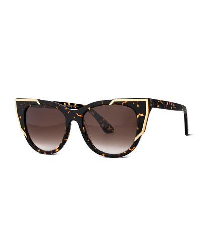 Butterscotchy Cat-Eye Sunglasses, Tortoise