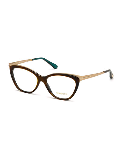 Cat-Eye Optical Frames, Dark Brown