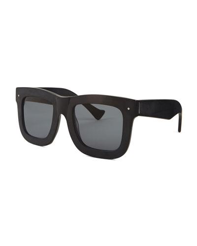 Status Square Sunglasses, Matte Black