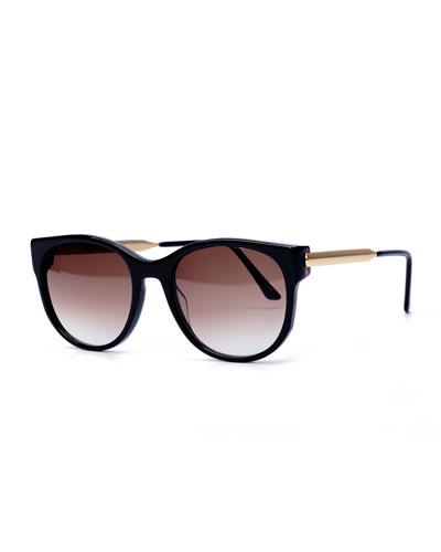 Axxxexxxy Butterfly Sunglasses, Black