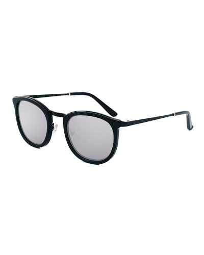 Baja East Shout Square Sunglasses, Baja Black