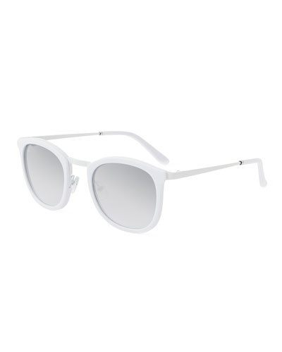 Baja East Shout Square Sunglasses, Baja White