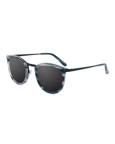 Baja East Shout Square Sunglasses, Baja Black/White