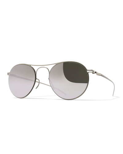 Essential Round Sunglasses, Silver