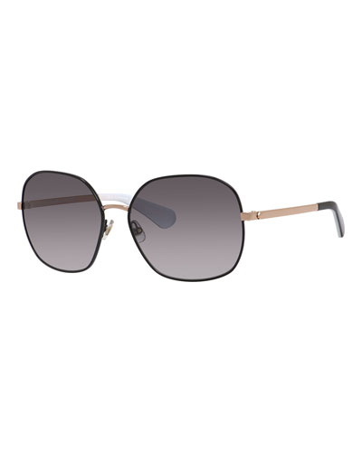 carlisa oversized gradient sunglasses