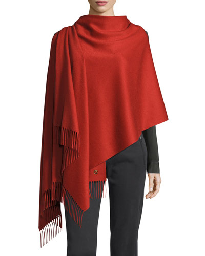 Felted Cashmere Opera Stole, Red