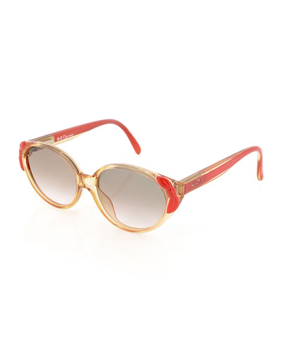 Girls' Bowed Cat-Eye Sunglasses, Clear/Pink