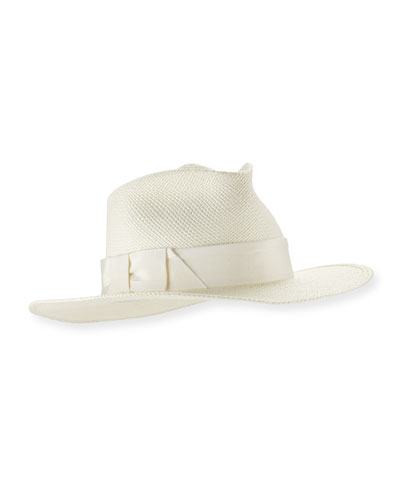 The William Panama Straw Sun Hat, White