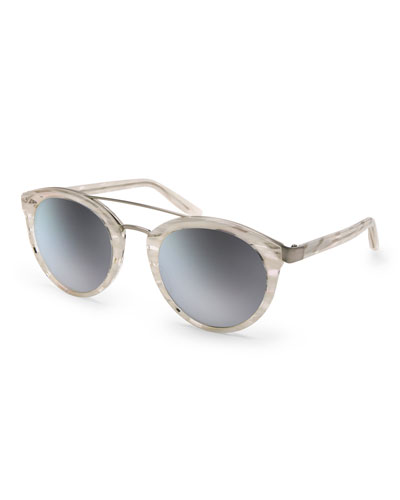 Dalziel Rounded Cat-Eye Sunglasses, Horn
