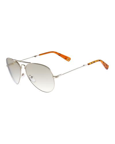 Foldable Aviator Sunglasses, Gold