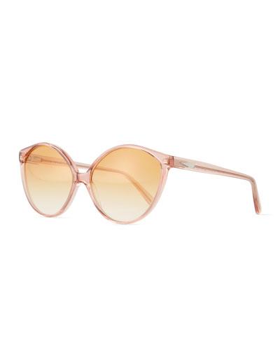 Istanbul Cat-Eye Acetate Sunglasses, Rouge