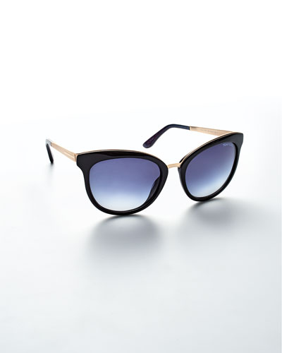Emma Gradient Frame Cateye Glasses : Tom Ford Plastic Square Sunglasses Neiman Marcus