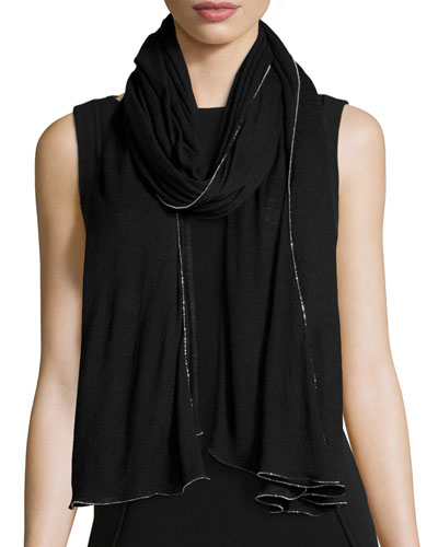 Chantilly Beaded Cashmere & Silk Scarf,