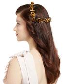Rosabel Rose Hair Coronet, Gold