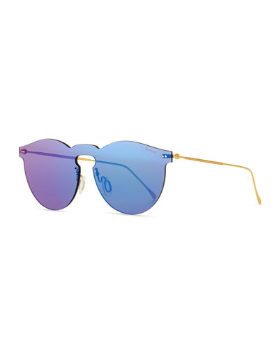 ab713b90560 Quick Look. Illesteva · Leonard Rimless Mirrored Sunglasses ...