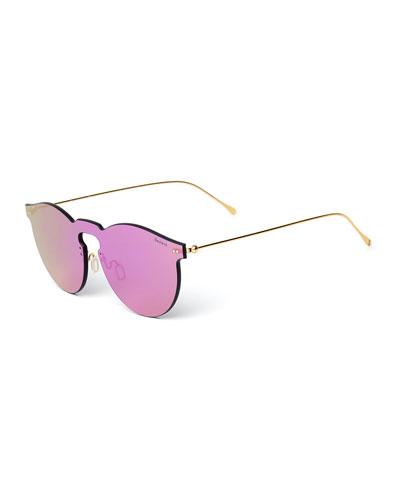 pink rimless wayfarer sunglasses Fendi X5c91vXju