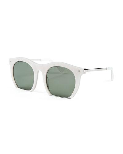 The Foundry Cutoff Sunglasses, Pearl