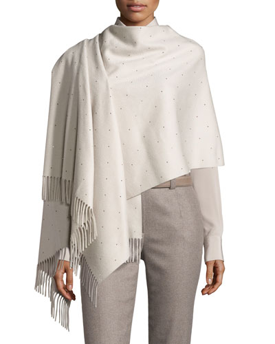 Crystal Drops Cashmere Opera Stole, Gray