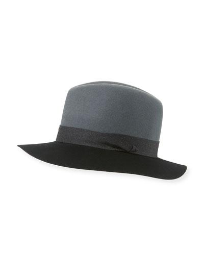 Floppy Felt Fedora Hat, Graphite
