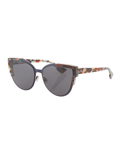 Wildly Dior Cat-Eye Sunglasses, Havana/Black