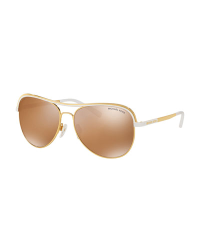 Michael Kors Mirrored Sunglasses  michael kors aviator sunglasses neiman marcus