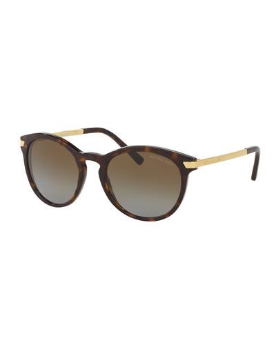 Rounded Square Gradient Sunglasses, Tortoise
