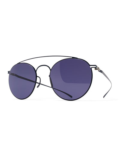 Esse Round Aviator Sunglasses, Blue