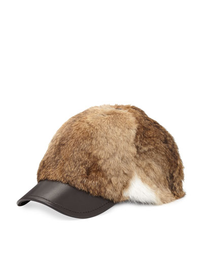 Goma Rabbit Baseball Cap, Natural Brown