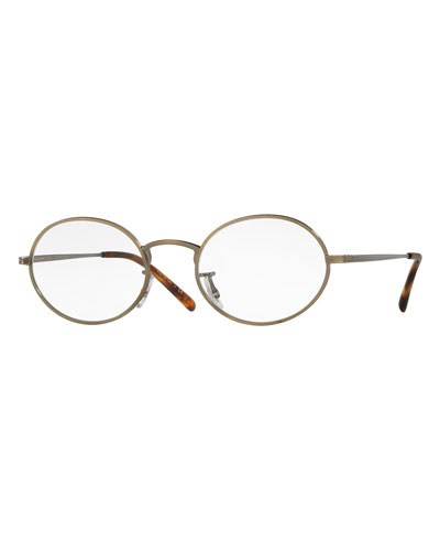 Empire Suite Photochromic Oval Sunglasses, Gold/Clear