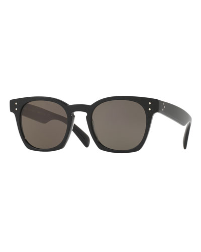 Byredo Square Monochromatic Sunglasses, Black