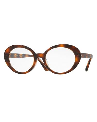 Parquet Photochromic Oval Sunglasses, Tortoise