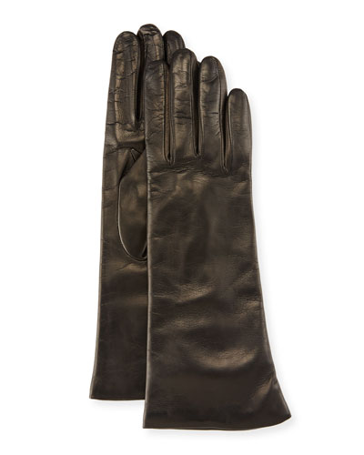 Nappa Leather Gloves, Black