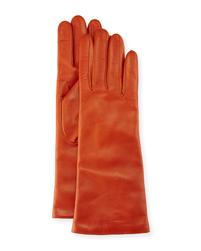 Nappa Leather Gloves, Burnt Sienna