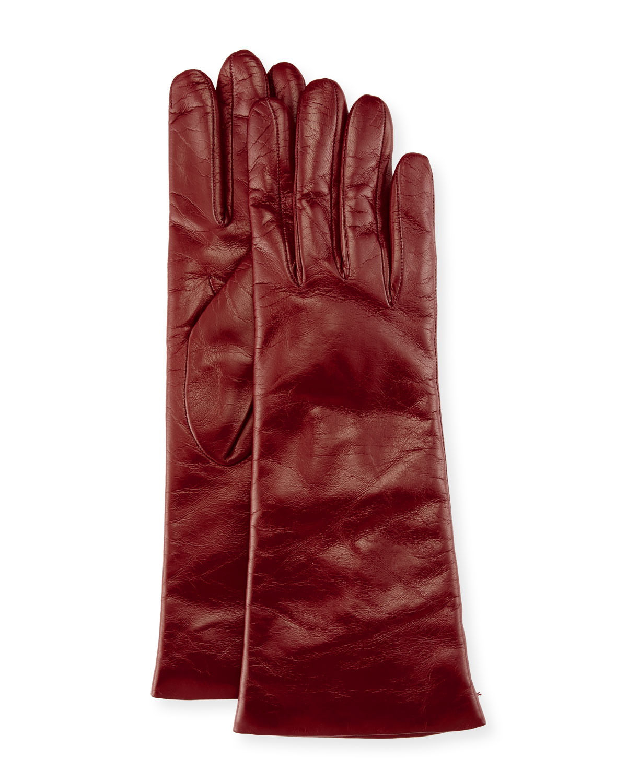 Napa Leather Gloves, Garnet Red