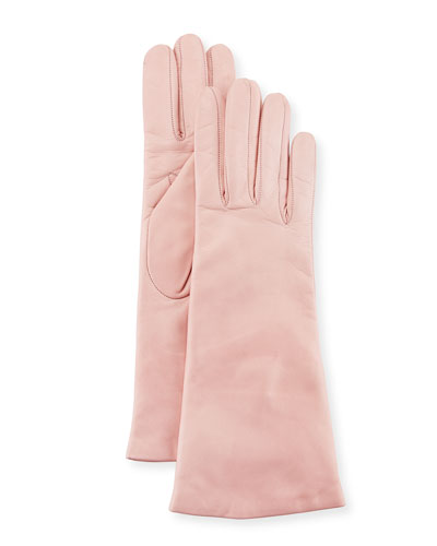 Napa Leather Gloves, Soft Pink