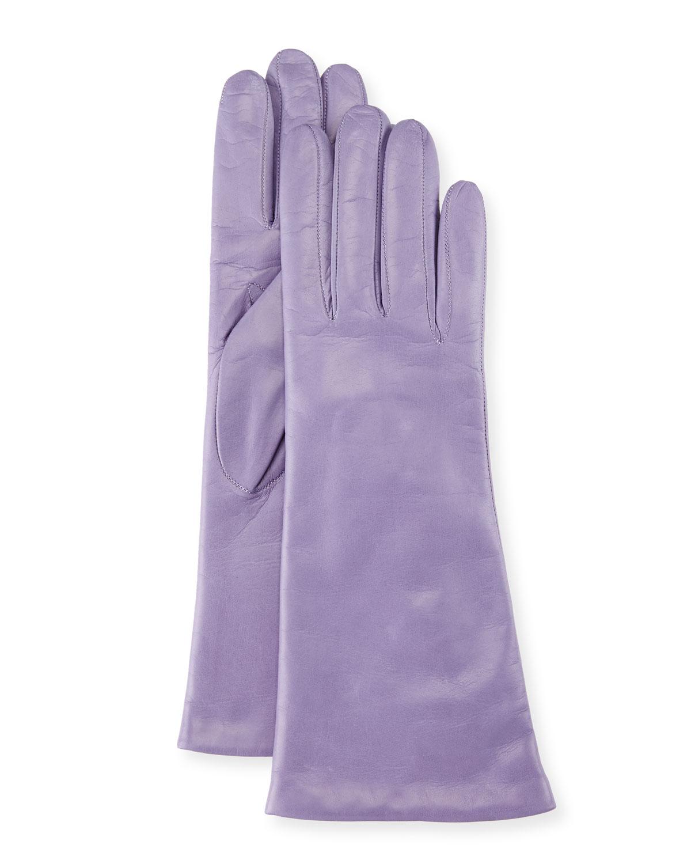 Napa Leather Gloves, Lavender