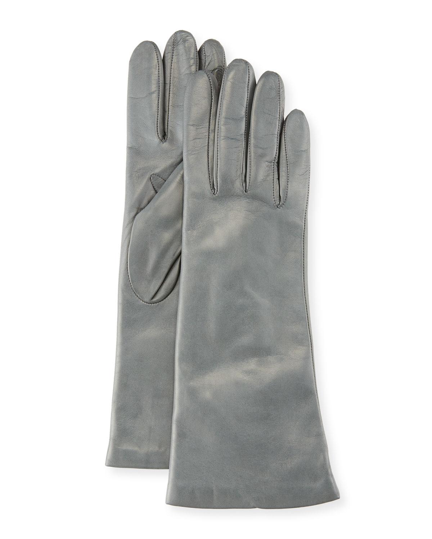 Napa Leather Gloves, Iron Gray