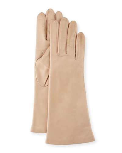 Nappa Leather Gloves, Nude