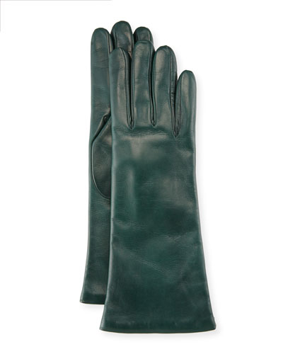 Nappa Leather Gloves, Conifer Green