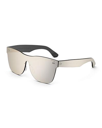 Tuttolente Classic Unit Square Sunglasses, Ivory