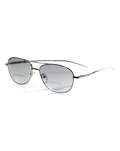 Turbulence Aviator Reader Sunglasses, Gold
