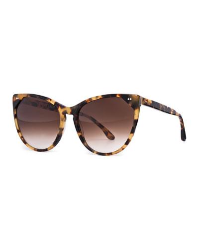 Swappy Cat-Eye Sunglasses, Tortoise