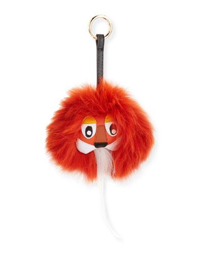Fox-Fur Lion Charm, Orange