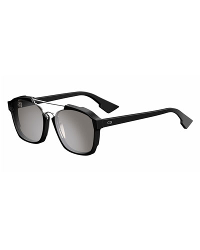 Square Abstract Sunglasses, Black