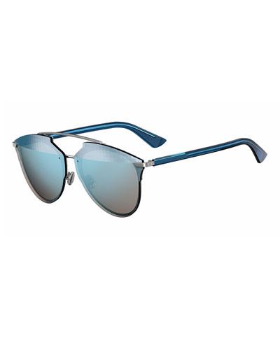 Reflected Prism Aviator Sunglasses, Blue