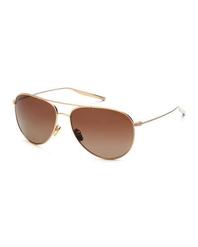Francisco Polarized Aviator Sunglasses, Gold