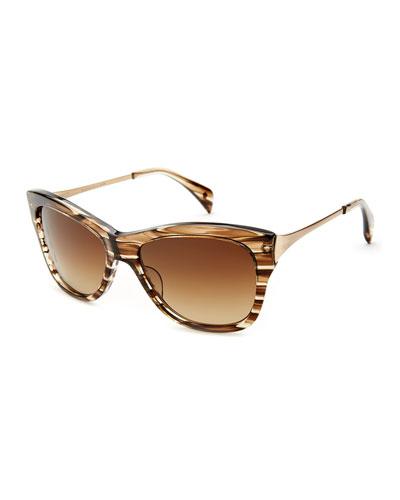 Milla Polarized Butterfly Sunglasses, Caspian Sparkle