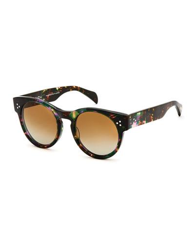 Wilcox Round Polarized Sunglasses, Tropical Flower